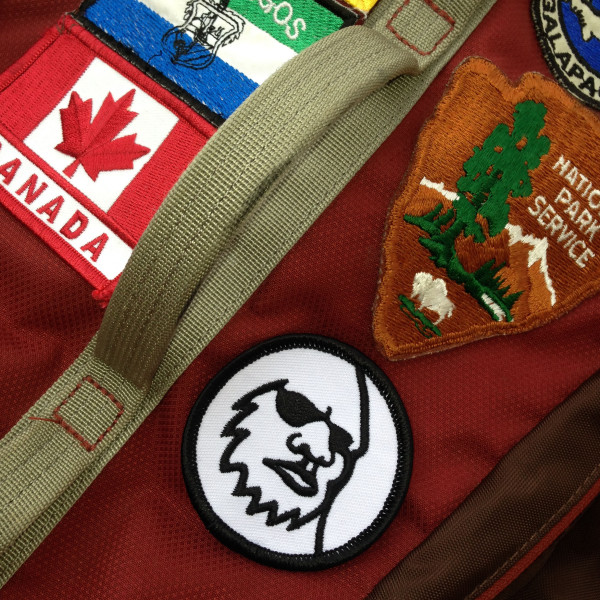 Yeti Head Logo Patch on Backpack