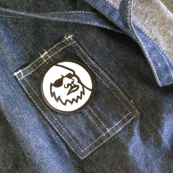 Yeti Head Logo Patch on Denim