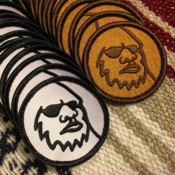 Lot of Yeti Head Logo Patches