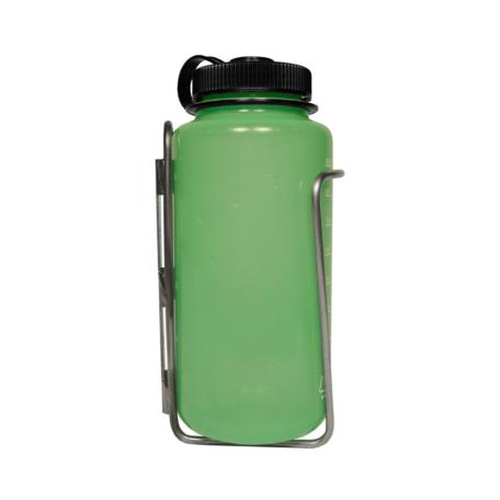 Nalgene bottle in LiterCage side view