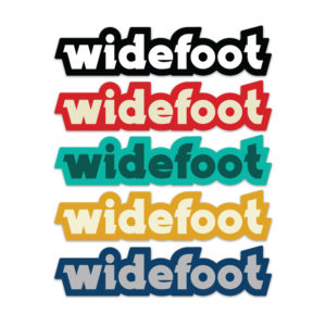 Widefoot Text Stickers